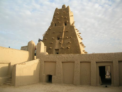 "The imposing, traditional mud structures in Timbuktu, Mali have increasingly become the target of cultural destruction by religious extremists. Photo: Francesco Bandarin, courtesy of <a href=""http://whc.unesco.org/en/list/119/"">UNESCO</a>."