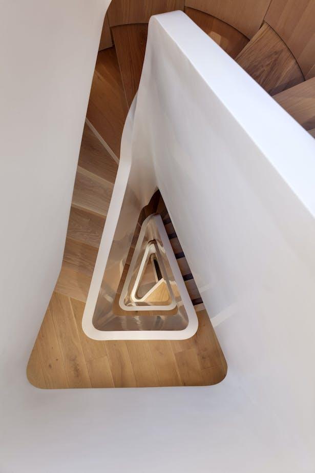 """HI-MACS® as the Backbone of Flatiron House, a """"Staircase"""