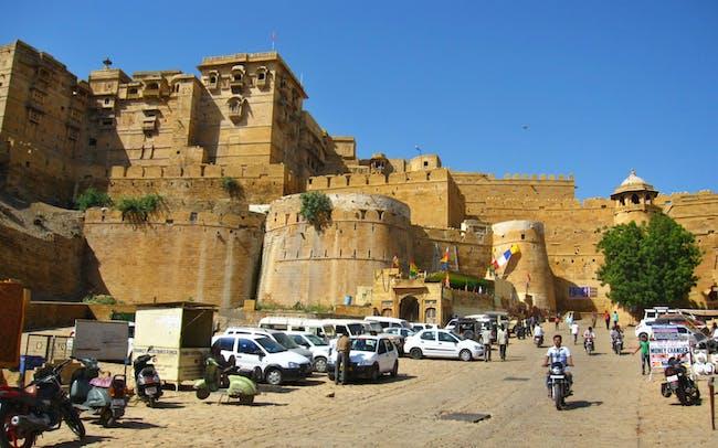 The Royal Complex of Jaisalmer atop her battlements