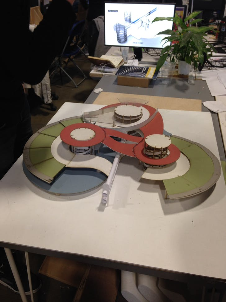 One student group's station design. Photo by Amelia Taylor-Hochberg.
