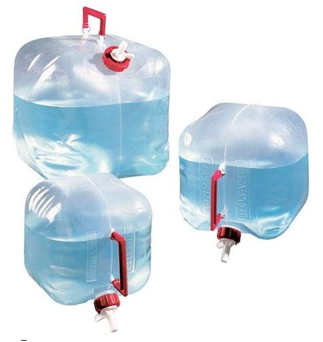 Reliance Fold-A-Carrier 5G water container. Image via relianceproducts.com