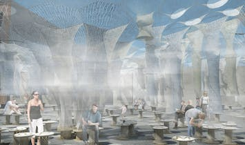 MoMA releases new videos of Jenny Sabin's Lumen installation, the winner of 2017 Young Architects Program