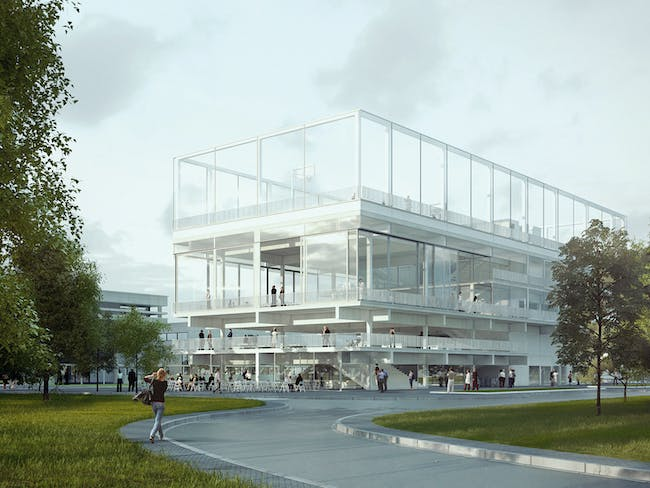 Holcim Awards Silver - Public Condenser: Low-cost flexible university building, Paris, France. Image courtesy of Holcim Awards 2014 for Europe.