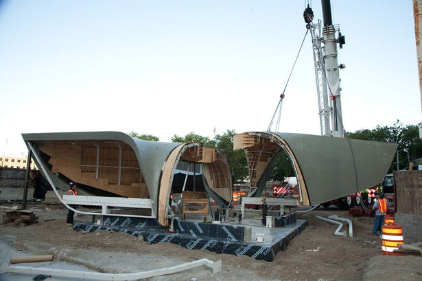 New Amsterdam Pavilion - Construction Image (Image: X2US)