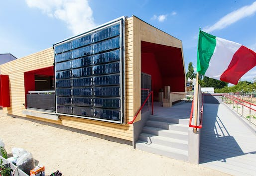 1st Prize/Overall: 'Rhome for Dencity' by Team Rhome (Universitá Degli Studi di Roma TRE). Photo © Solar Decathlon Europe / jflakes.com