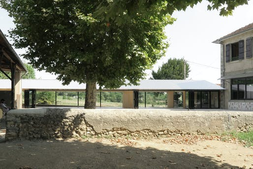 Emerging Architect Prize: School refectory in Montbrun-Bocage, France, designed by BAST. Photo by BAST.