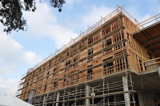 New affordable housing units under construction in Los Angeles. The demand far outweighs the supply though. Image via the Housing Authority of the City of Los Angeles on Twitter.