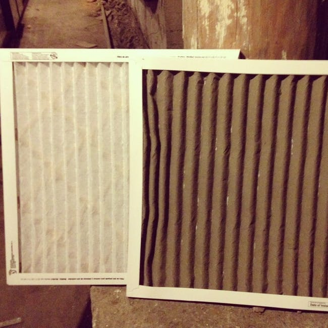 Changing air filters