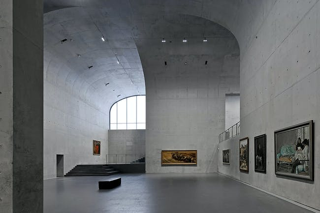 Interior of the West Bund Lond Museum. Photo by Su Shengliang, courtesy of Andrei Zerebecky.