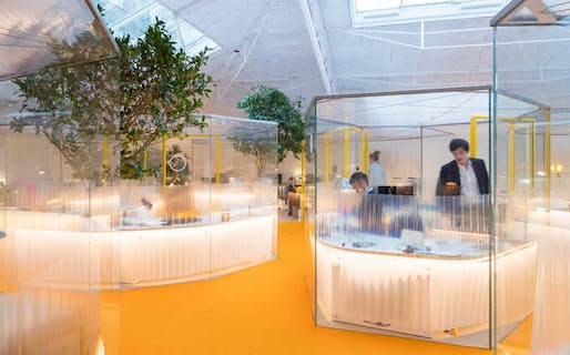 Meet me in the polygon! … the workpods at Holland Park. (via theguardian.com; Photograph: Iwan Baan)