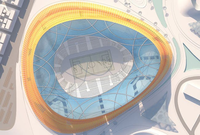 Site plan of the main stadium (Image: LAVA)