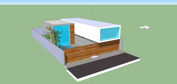 Facade/Entrance View_SketchUp 3D Rendering