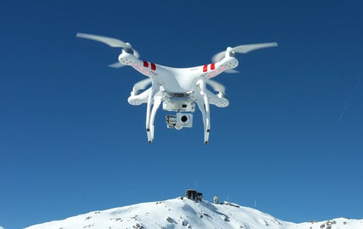 The DJI Phantom quadcopter. Credit: Wikipedia