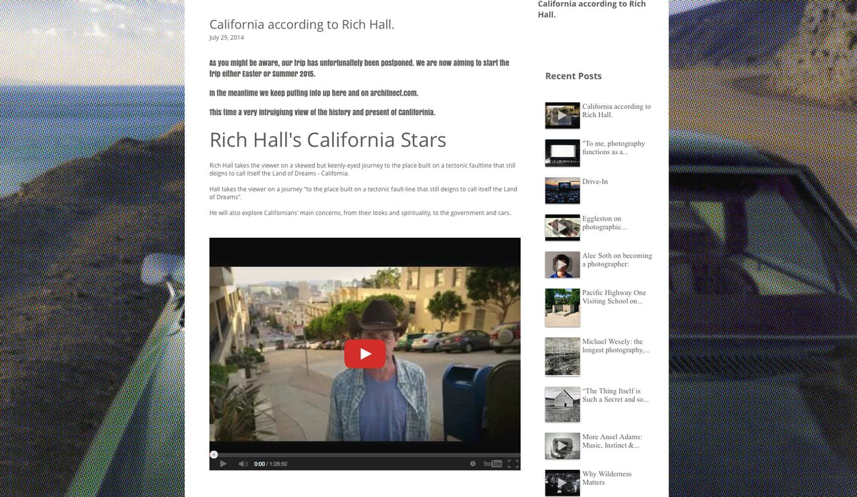 California according to Rich Hall  | Blogs | Archinect