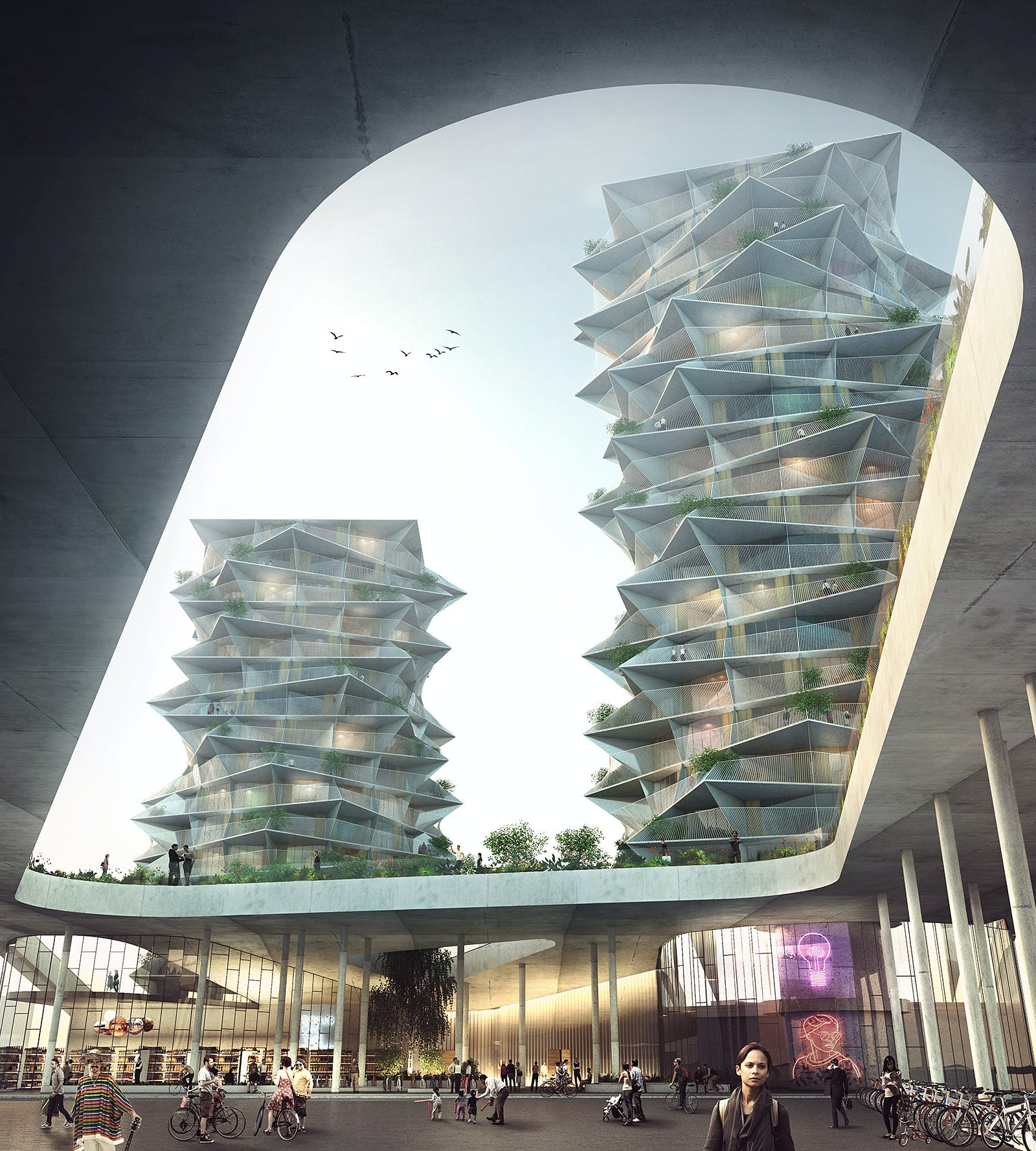 Big 39 s cactus towers to join dorte mandrup 39 s urban ikea for Big architecte