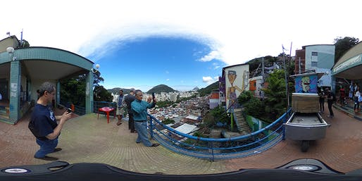 One of many 360-degree images architecture professor José Duarte took with Brazilian students in Rio de Janeiro's Santa Marta favela. Photo: José Duarte, via landscapearchitecturemagazine.org.