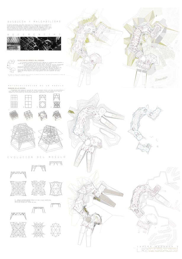 evolution of the architectural space and the estructural solution