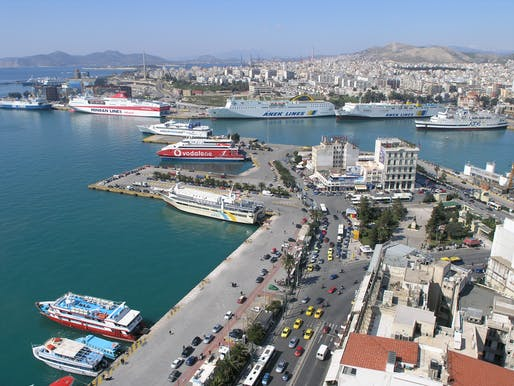 Already burdened by a debt crisis and austerity measures imposed by the EU, Greece is ill-equipped to deal with its swelling refugee population. Image: the port of Piraeus in Athens, via wikimedia.org
