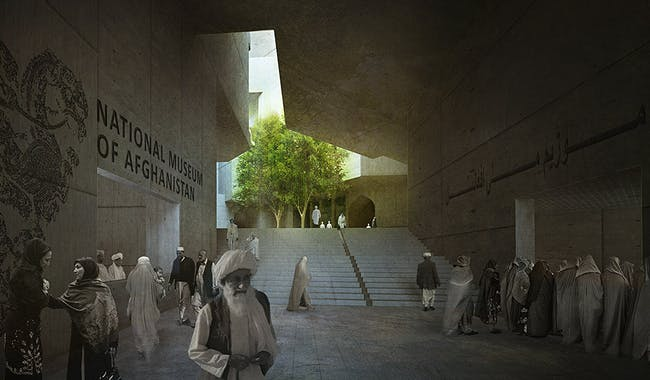 Main entrance (Image: Matteo Cainer Architects)