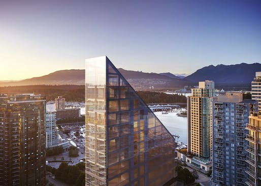 The timber-framed, Vancouver-waterfront adjacent Terrace House by Shigeru Ban. Image: PortLiving