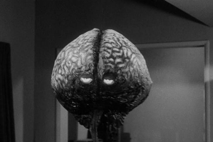 If only our brains could talk. The eponymous 'Brain from Planet Arous', image via horrorpedia.com