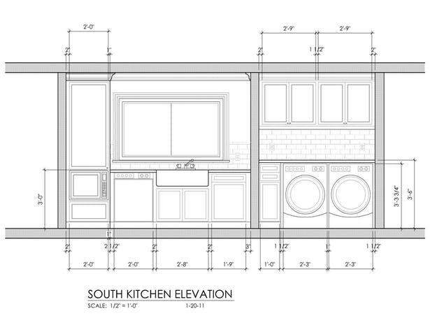 Kitchen - South Elevation