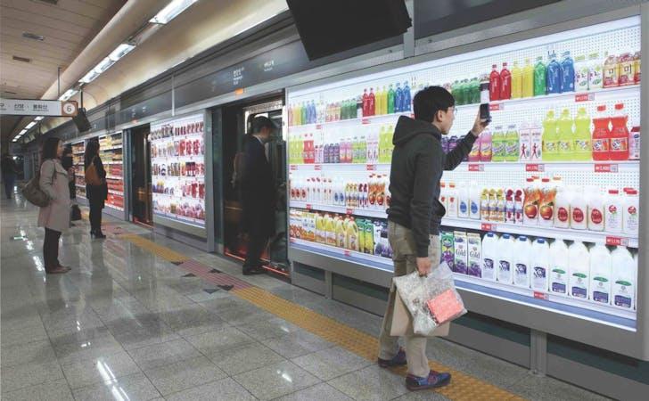 Tesco Homeplus virtual storefront, Seoul, South Korea, 2011.