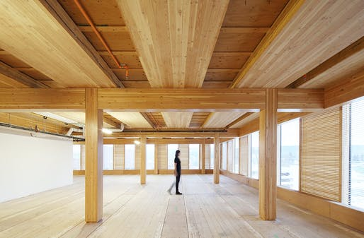 Wood Innovation and Design Centre by MGA | MICHAEL GREEN ARCHITECTURE. Photography by Ema Peter