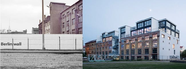The site of Factory Berlin, before and after phot by Julian Breinersdorfer Architecture