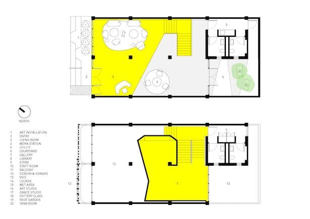 Ground and Mezzanine Plan