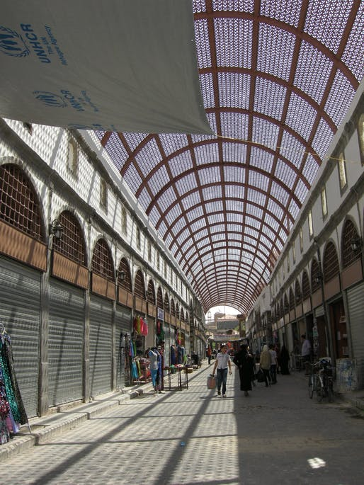 A new roof for the ancient souk of Homs. Designer: Ghassan Jansiz for United Nations Development Programme. Photo courtesy Design Museum.
