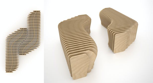 Rendering of custom benches