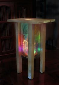 Dichroic Temple / Dichroic Furnace art lighting