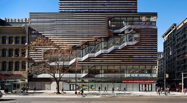 2015 North American Copper in Architecture - University Center - The New School | Architect: Skidmore, Owings & Merrill. Photo: James Ewing.