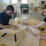 Studio H students Kerron Hayes and Cameron Perry. From IF YOU BUILD IT, a Long Shot Factory Release 2013.