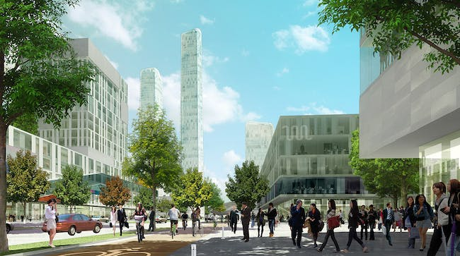 Central view (Image: SOM)