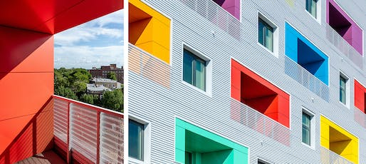 Independence Affordable Housing Balconies, John Ronan Architects. Photo: James Florio.