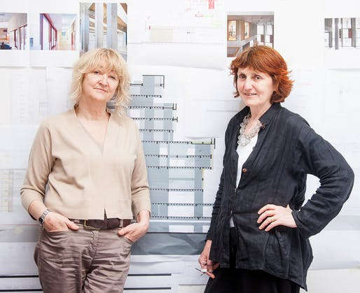 Yvonne Farrell and Shelley McNamara of Grafton Architects, courtesy of Alice Clancy.