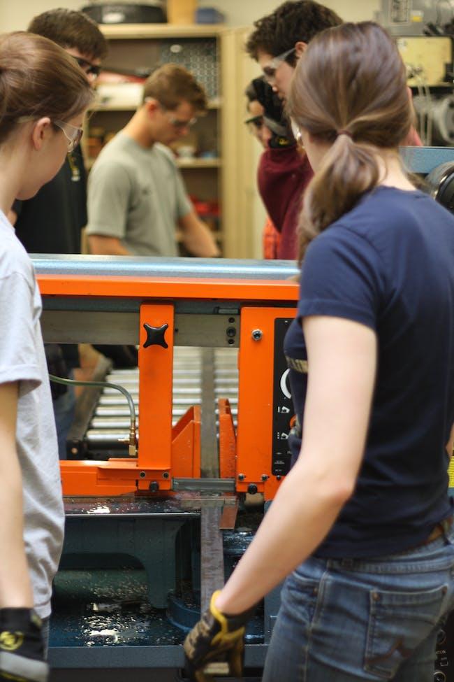 Cutting barstock on the drop saw