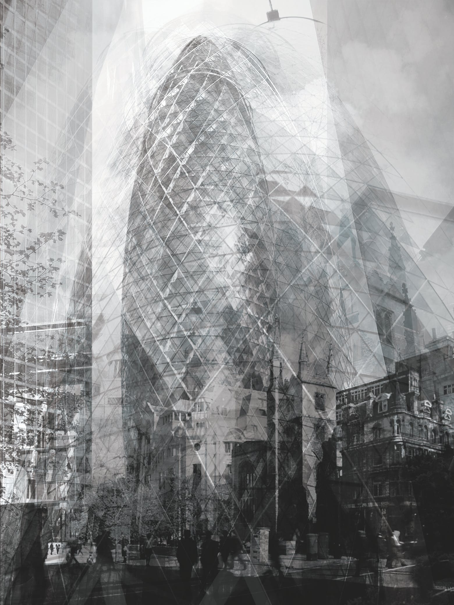 """aac41eb8fb5d Bryan Scheib, """"The Gherkin,"""" digital computer file, 2013. Created by"""