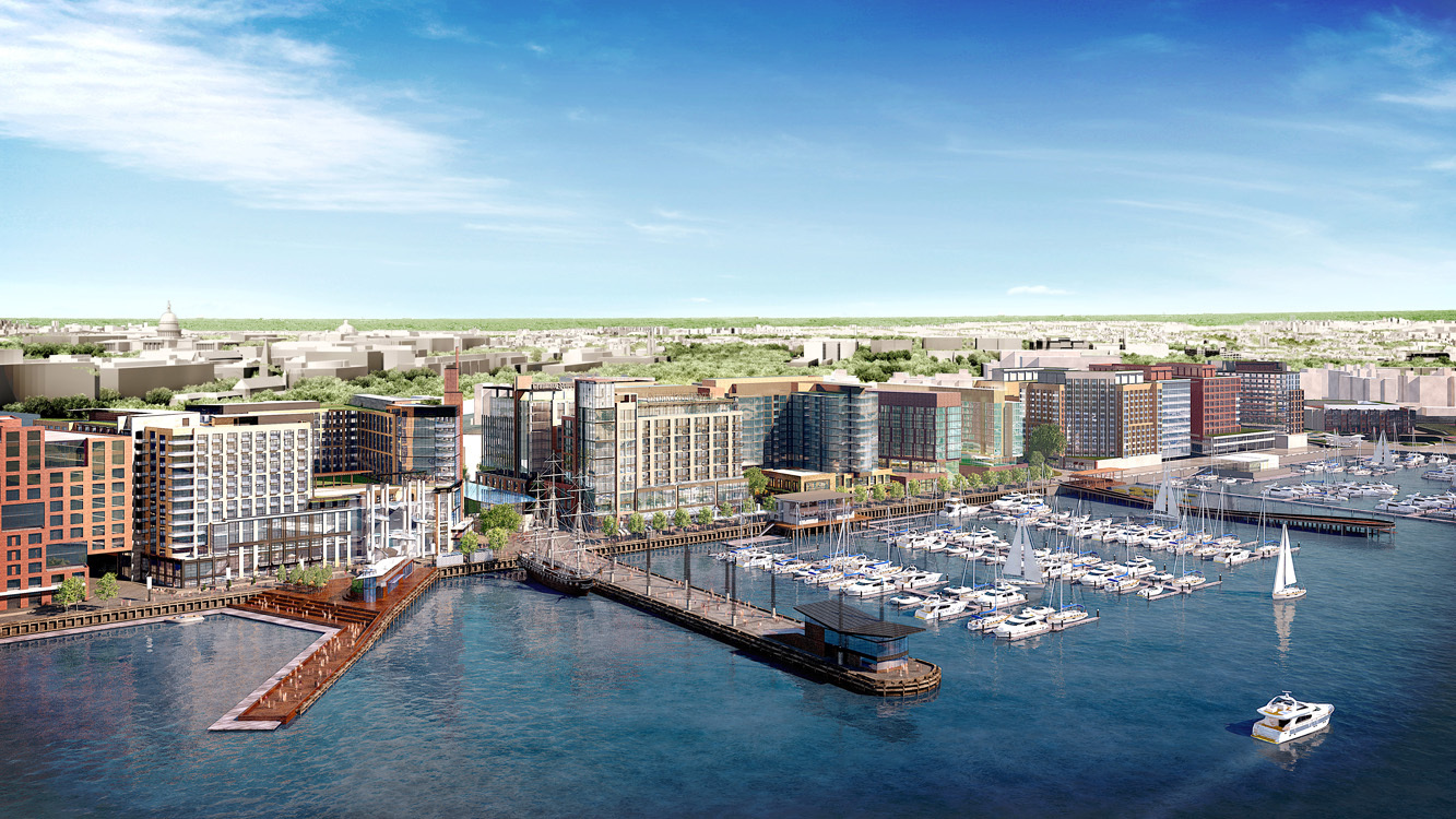 Phase of the wharf underway in dc perkins eastman leads as