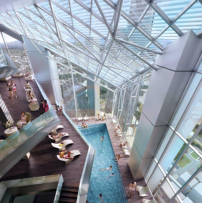 Tower 2 atrium (Image: Adrian Smith + Gordon Gill Architecture)