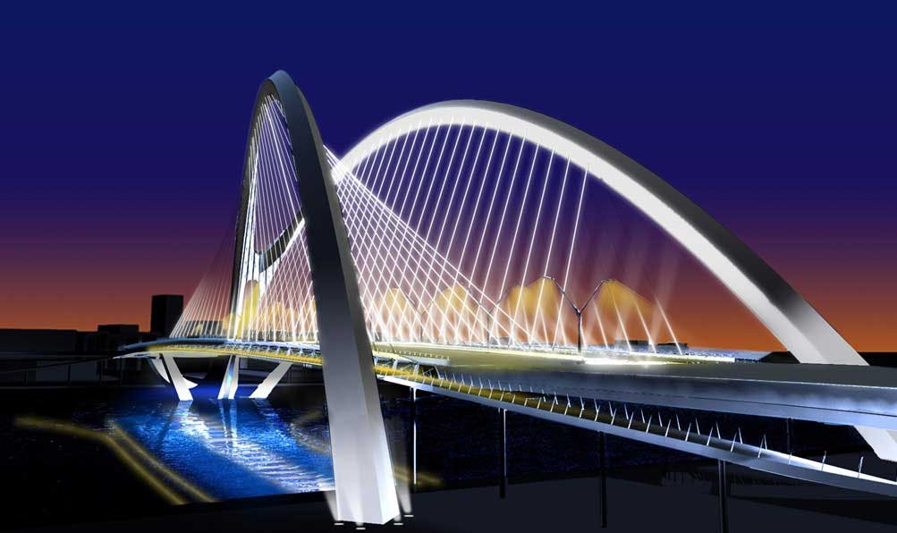 Dubai 5th Crossing Bridge | AWA Lighting Designers | Archinect