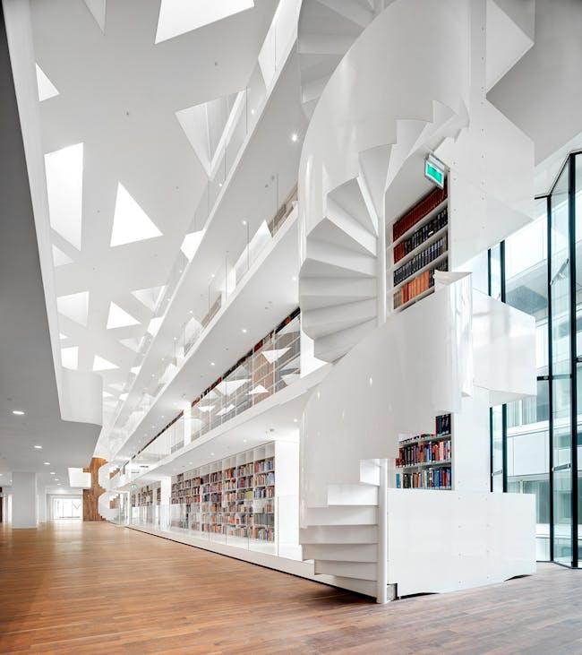 Education Center Erasmus University Medical Center in Rotterdam, the Netherlands by KAAN Architecten; Photo: Bart Gosselin