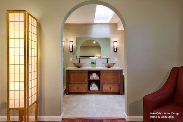 Yoko Oda Interior Design Zen Bathroom Walnut Creek Ca Chibi