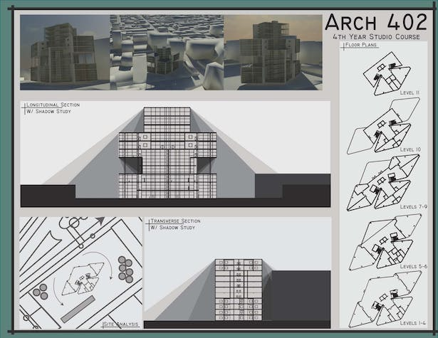 Renderings, Sun Studies, Site, and Plans