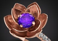 Rose Gold Lotus Ring