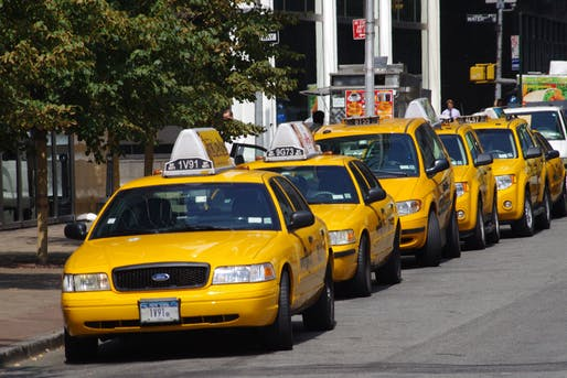 Yellow cabs in New York, Image via Wikipedia
