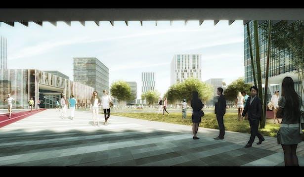 Tianjin Dongli High-Tech District by schmidt hammer lassen architects