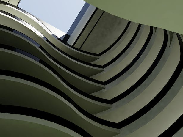 View up from Lobby
